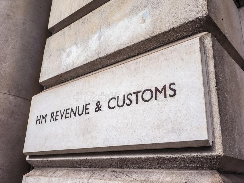 HMRC à Londres (hdr) photographie stock libre de droits