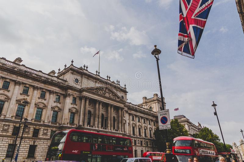 HMRC budynek w Londyńskim centrum miasta zdjęcie royalty free