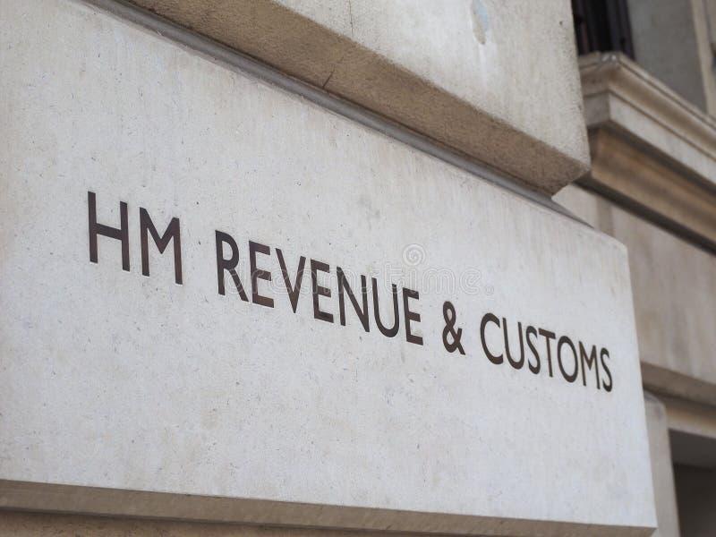 HMRC podpisują wewnątrz Londyn zdjęcia stock