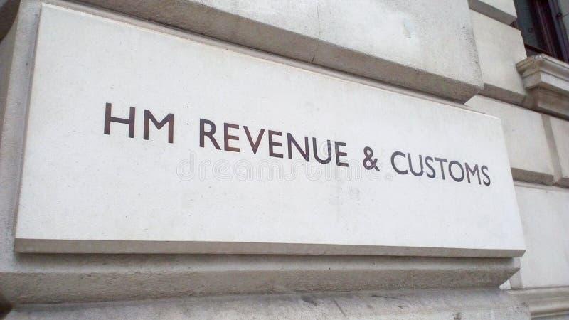 HMRC podpisuj? wewn?trz Londyn obraz stock