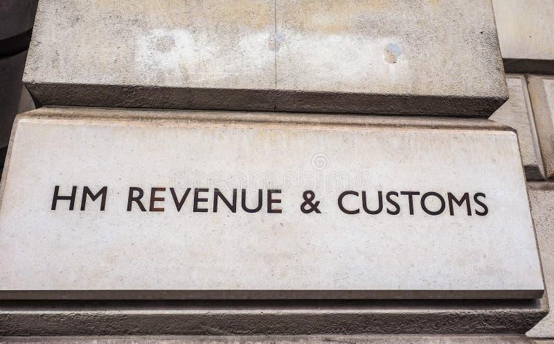 HMRC w Londyn, hdr zdjęcia stock