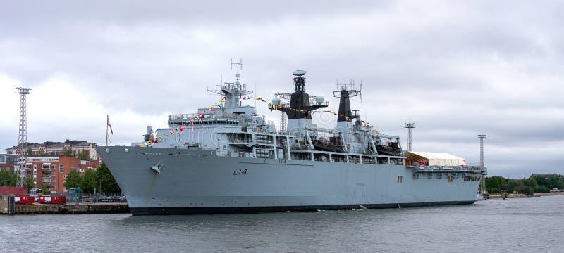HMS Albion - L14 στοκ φωτογραφία με δικαίωμα ελεύθερης χρήσης