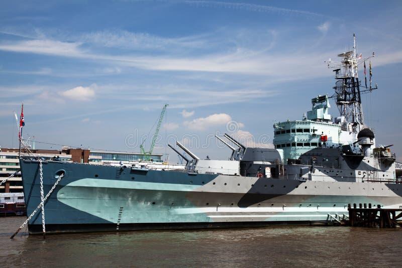 HMS Belfast royalty free stock photos
