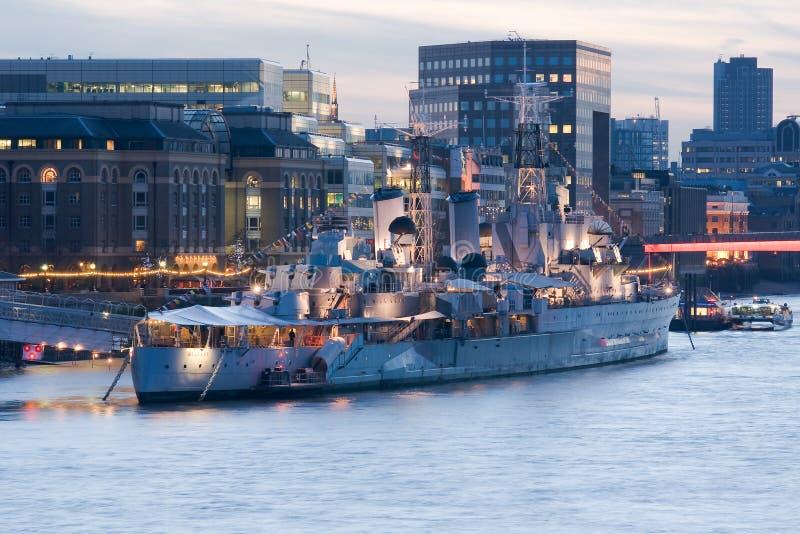 HMS Belfast royalty-vrije stock foto's