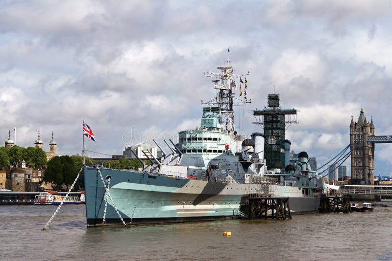 Download HMS Belfast stock image. Image of london, naval, belfast - 3813441