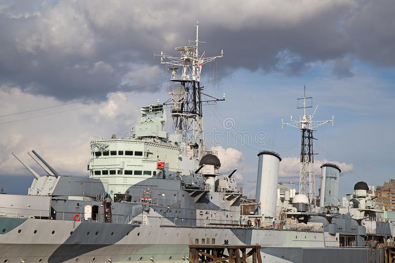 HMS Belfast imagem de stock