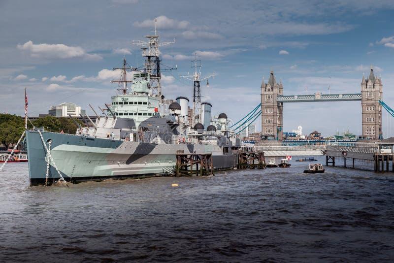 HMS Belfast Londra fotografia stock