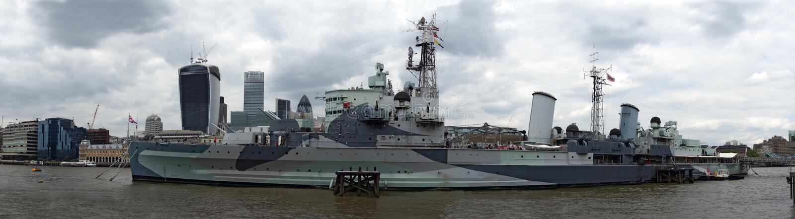 The HMS Belfast stock images
