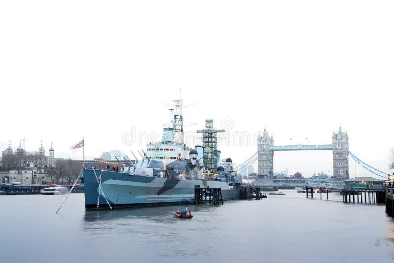 Download Hms Belfast Battleship River Thames London Uk Stock Image - Image: 25151745