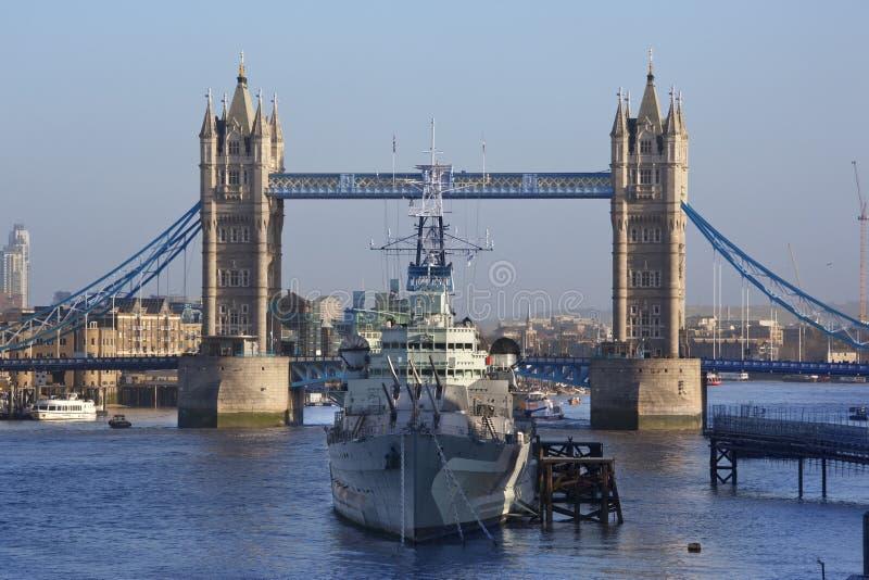 Download HMS Belfast - Tower Bridge - London - England Stock Image - Image: 22900465