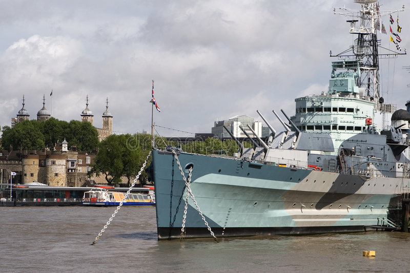 Download HMS Belfast & Tower Of London Stock Photo - Image of thames, ship: 3813624