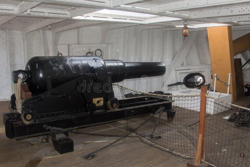 HMS Gannet arma de 64 libras foto de archivo