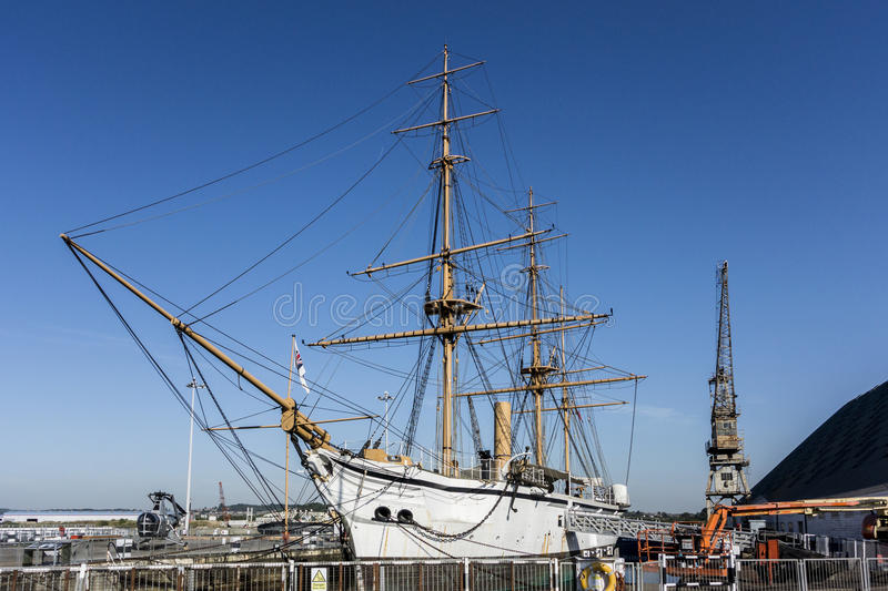 HMS Gannet. At Chatham Dockyard, Kent royalty free stock photography