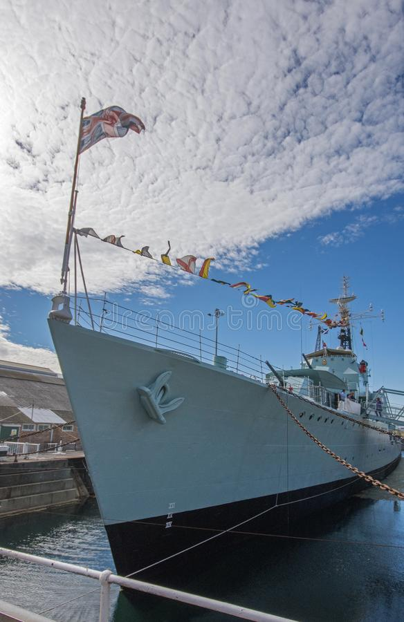 HMS-Kavalier in Chatham-Werft lizenzfreies stockbild
