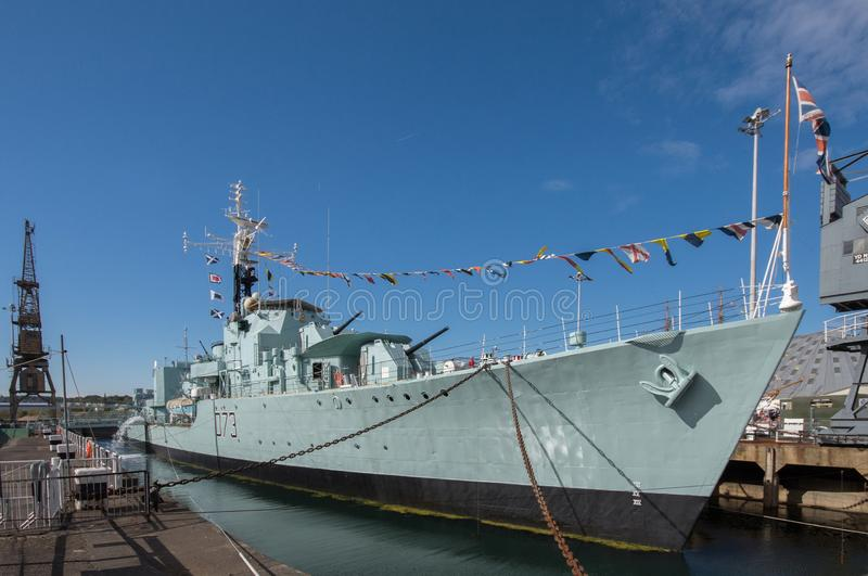 HMS-Kavalier in Chatham-Werft stockbild