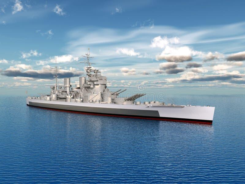 HMS Koning George vector illustratie