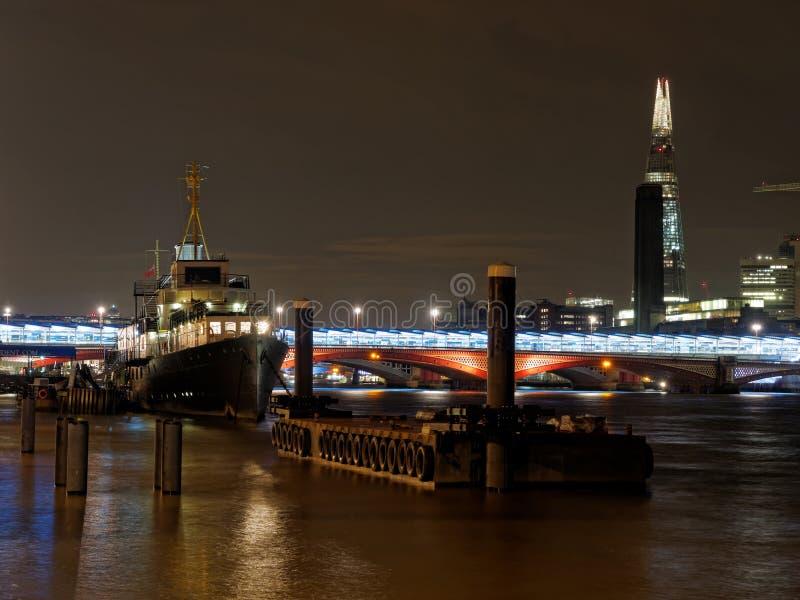 HMS prezydent, Londyn, Grudzień 2013 fotografia stock