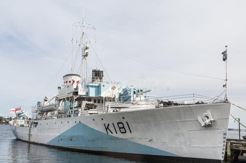 HMS Sackville in Halifax royalty-vrije stock afbeeldingen