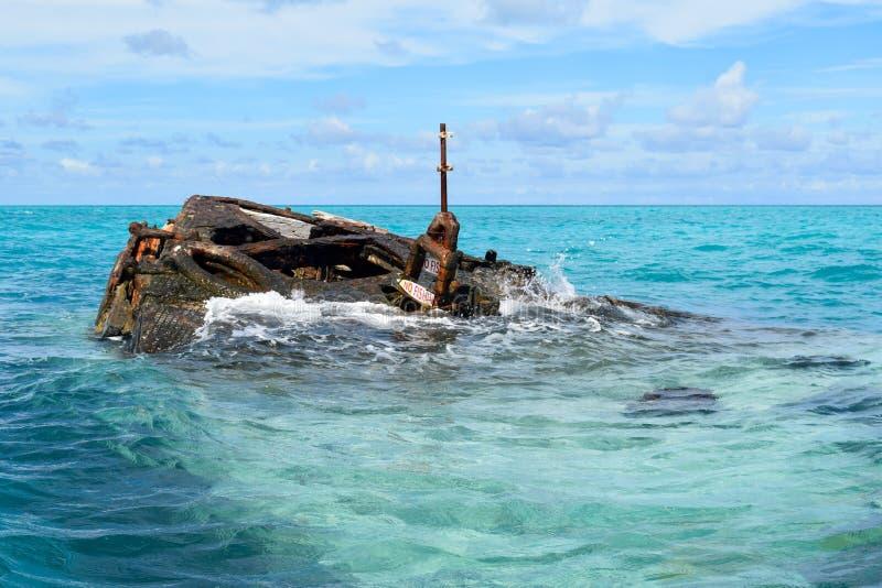 HMS-Vixen-Schiffbruch, Somerset Village, Bermuda stockbilder
