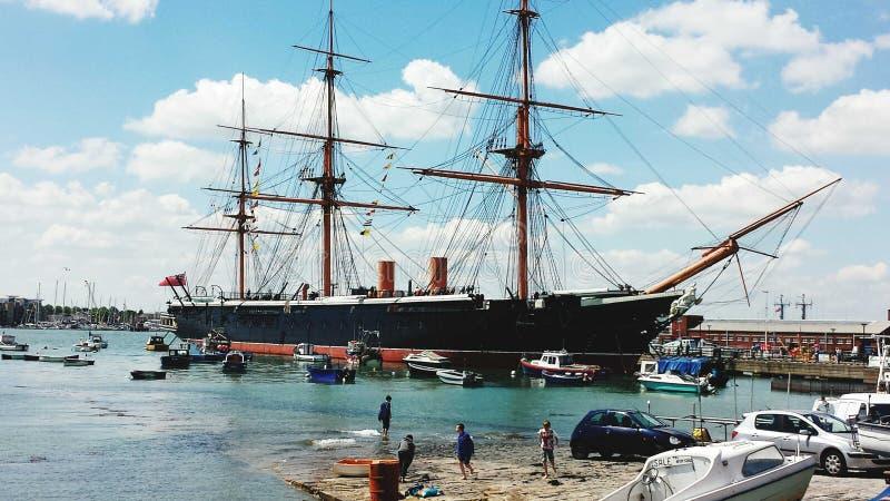 HMS wojownik zdjęcie royalty free