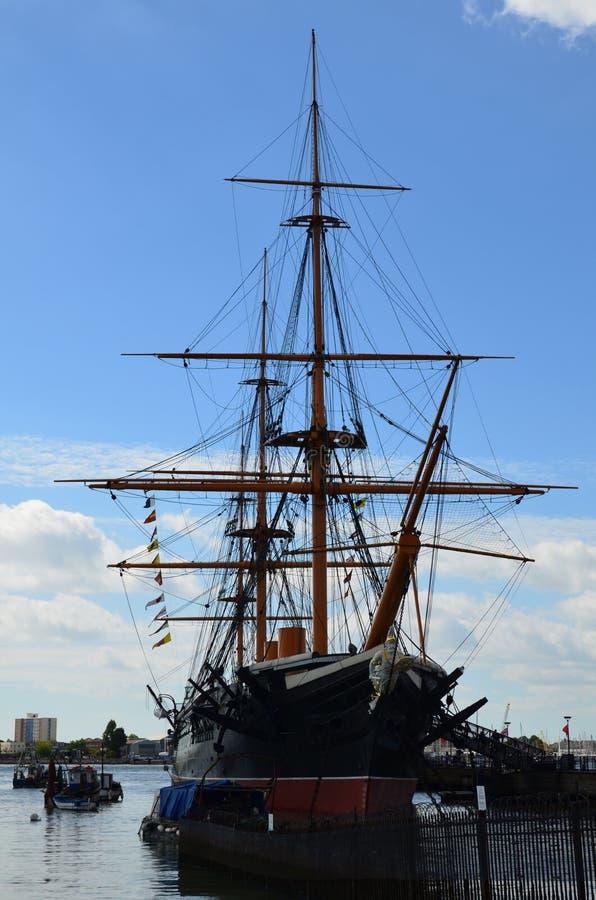 HMS wojownik zdjęcia stock
