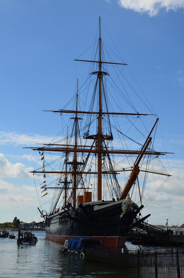 HMS wojownik fotografia stock