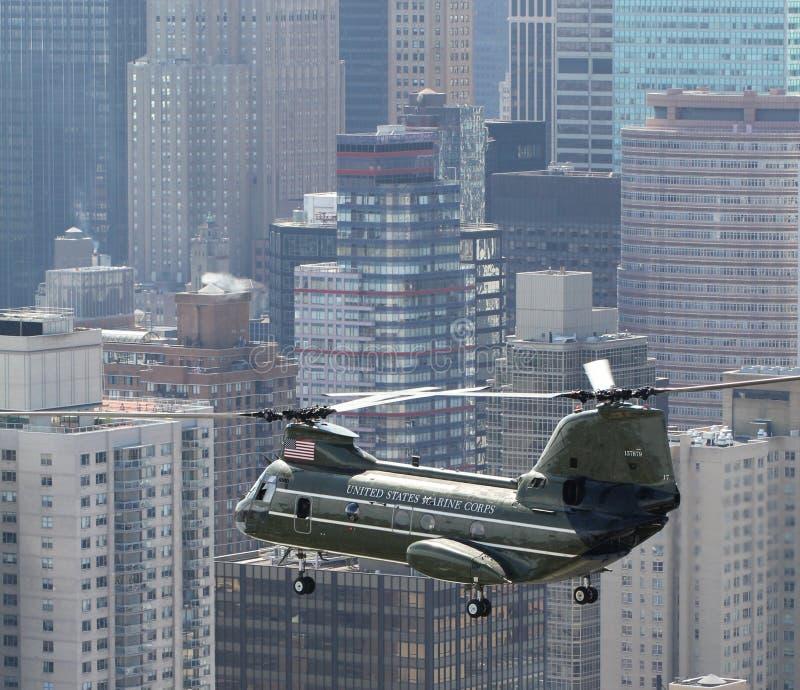 HMX-1 CH-46E NYC royalty free stock photo