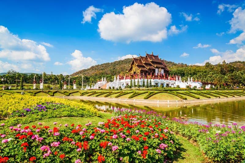 Ho皇家公园的Rajapruek,传统泰国architec西康省Luang 图库摄影