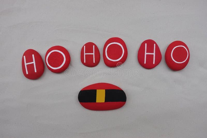 Ho Ho Ho, Święty Mikołaj przychodzi dla bożych narodzeń zdjęcia royalty free