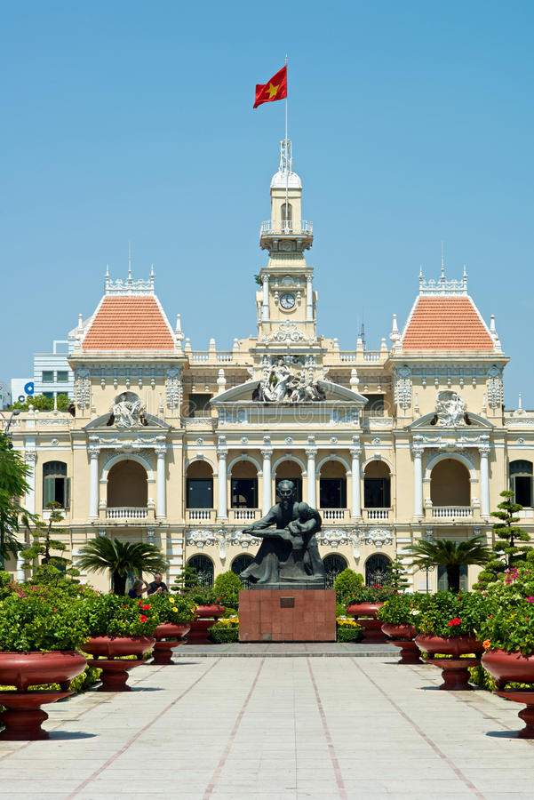 Ho Chi Minh Building in Vietnam stockbild