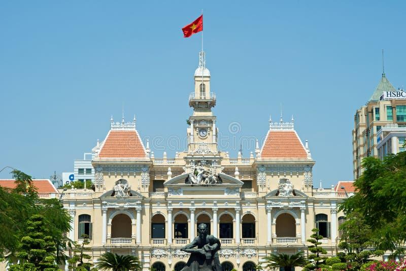 Ho Chi Minh Building in Vietnam lizenzfreies stockbild