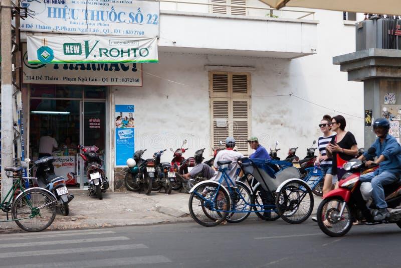 Ho Chi Minh City Area-Vervoer stock fotografie