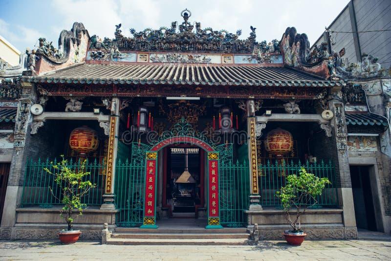 HO CHI MINH CITY ARIL 03 2016 - Thien Hau tempel, kineskvarter Saigon, Vietnam, Asia Pacific royaltyfri foto