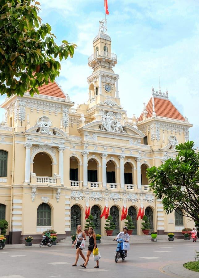 Ho Chi Minh City Hall royaltyfri fotografi