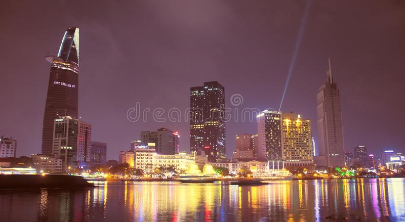 When the Ho Chi Minh city lights up royalty free stock images