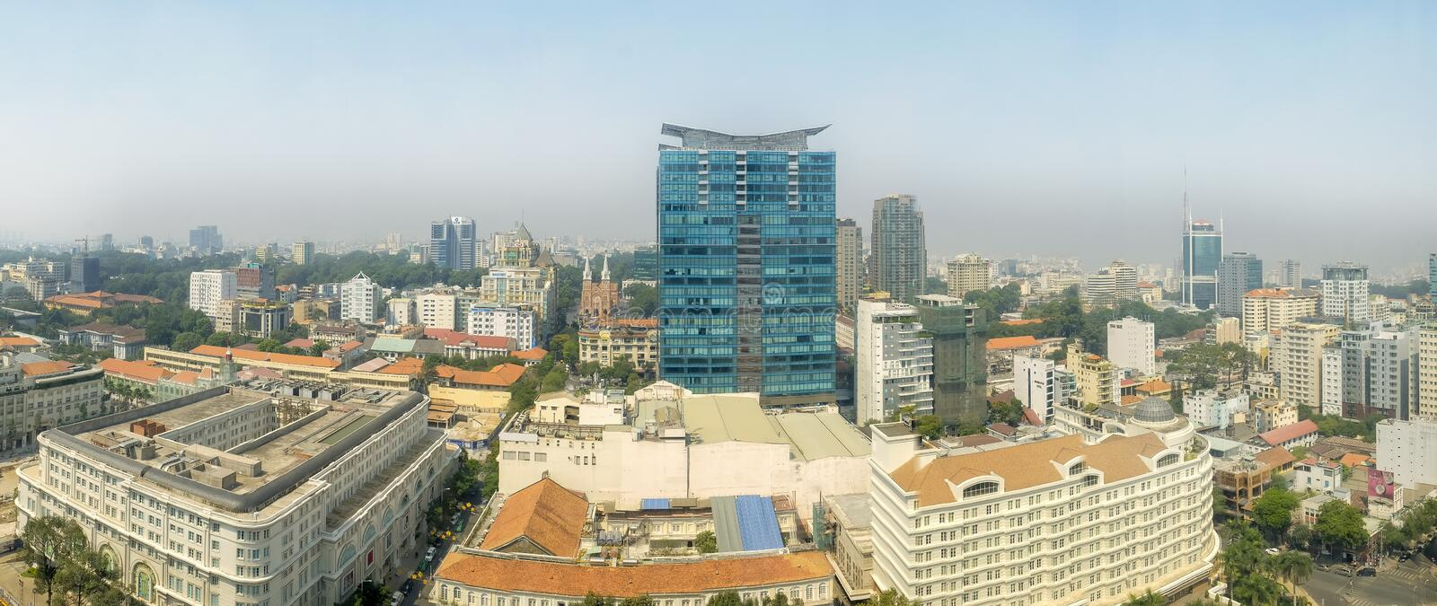Ho Chi Minh City Panoramic-Mening, Vietnam royalty-vrije stock fotografie