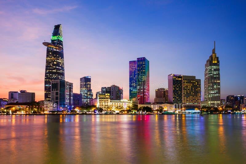 Ho Chi Minh city skyline royalty free stock photos