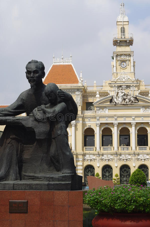 Iconic statue of Uncle Ho in Ho Chi Minh City. Statue of Uncle Ho in Ho Chi Minh City in southern Vietnam, Asia stock images