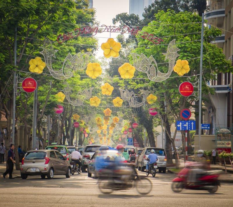 Ho Chi Minh City Street, Vietnam stock photo