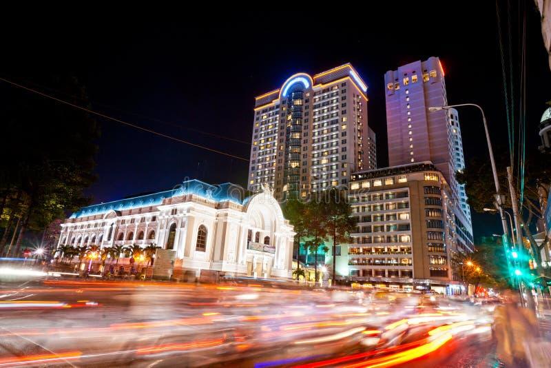 Ho Chi Minh City Vietnam. arkivfoton