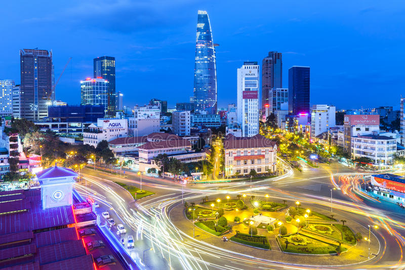 HO CHI MINH CITY, VIETNAM fotos de stock royalty free
