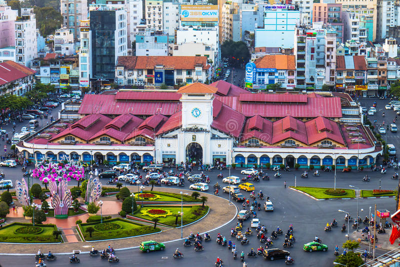 HO CHI MINH CITY, VIETNAM fotografie stock libere da diritti
