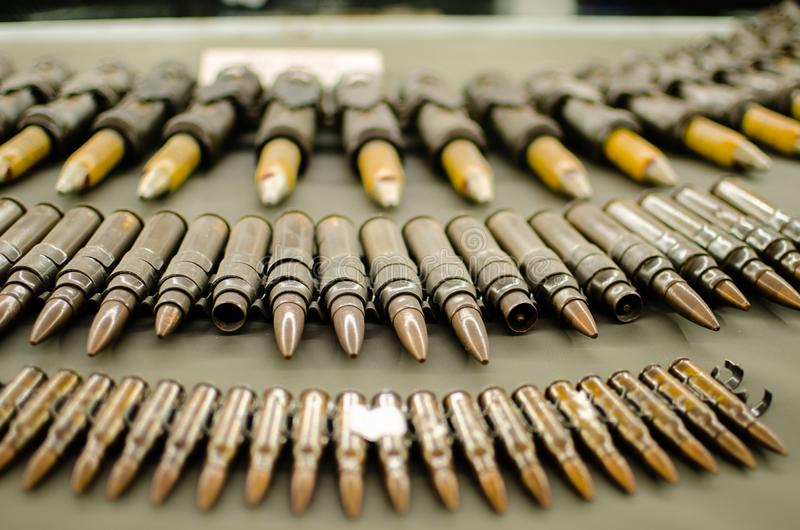 Ho Chi Minh City, Vietnam - 12. Dec. 2019: Many bullets in display at The War Remnant Museum inSaigon.The War Remnants Museum is royalty free stock photos