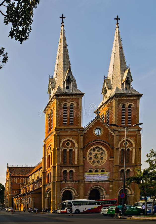 Notre-Dame Cathedral Basilica of Saigon Vietnam royalty free stock images