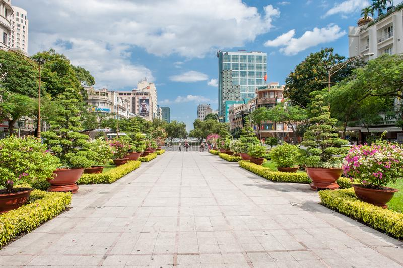 Ho Chi Minh Square in Ho Chi Minh City royalty free stock image
