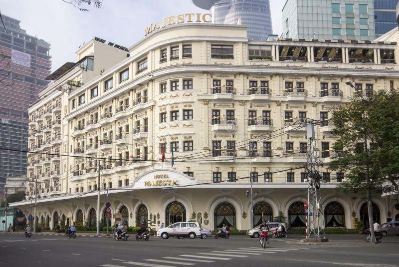 HO CHI MINH CITY VIETNAM-NOV 3RD: Hotellet som är majestätiskt på Novembe arkivfoto