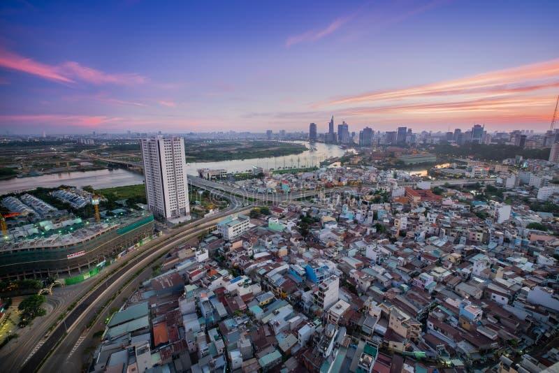 Ho Chi Minh Developing lizenzfreie stockfotos