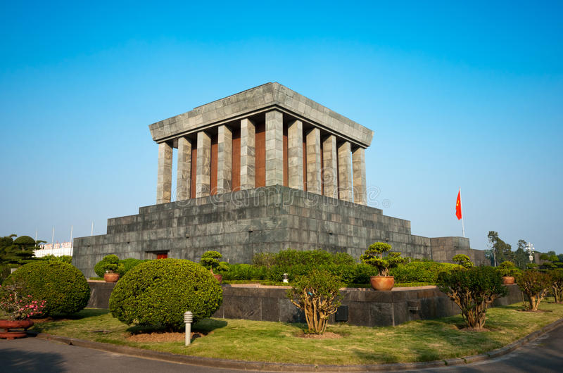Ho Chi Minh Mausoleum in Hanoi. royalty free stock images