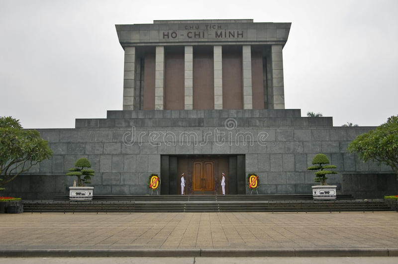 Ho Chi Minh Mausoleum in Hanoi. Vietnam. royalty free stock photo