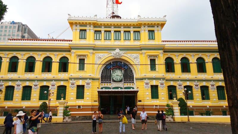 Ho Chi Minh miasta urząd pocztowy lub Saigon poczty Office†Środkowy ‹ fotografia stock